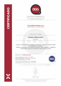 Certificado 18001